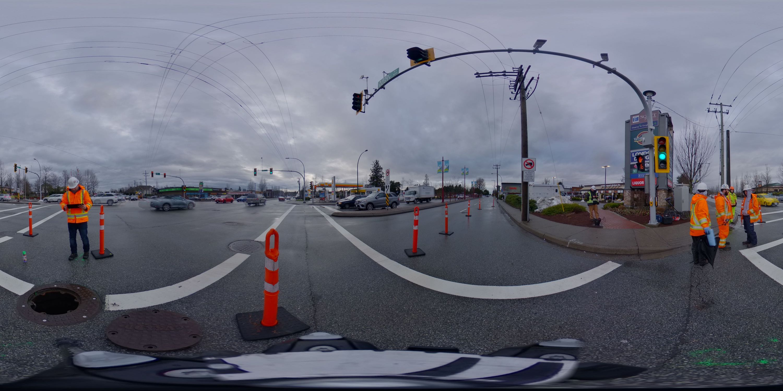 Manhole survey traffic control