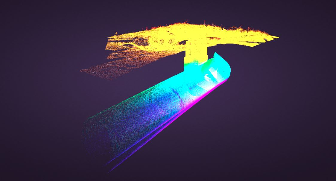 Storm drain point cloud data laser scans