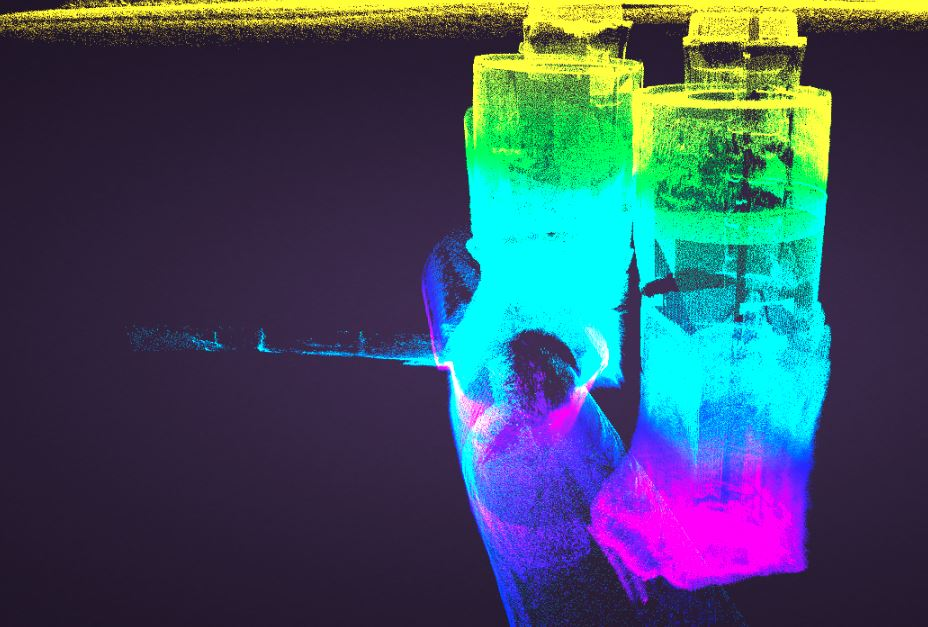 Double manhole cover survey laser scans