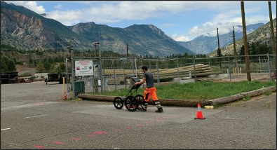 Collecting GPR in Northern BC